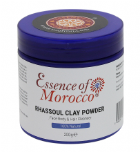 Rhassoul Clay Powder Mask Natural Pure Moroccan Ghassoul 200 g / 7 OZ